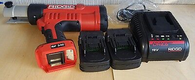 Ridgid RP340 18V Battery Power ProPress Tool with Charger, & 2 Batteries***NEW
