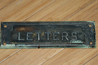 VIintage Brass LETTERS Hinged Mail Slot