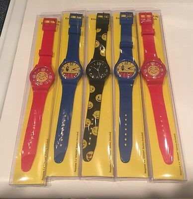 5 x * EMOJI * WATCH * WATCHES MINT IN PACKAGE COMPLETE WITH BATTERY PARTY FAVOR