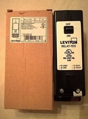 Leviton GreenMAX RELAY-1DS 1-Pole 30A dimming and switching relay