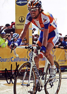 Laurens ten Dam Signed 5X7 inches Rabobank Team Photo