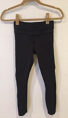 Lululemon Women's Long Black Workout Leggings Size 2 Good Condition