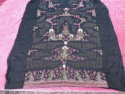Antique Flapper 1920'S Hand Beaded Dress Panel On Silk