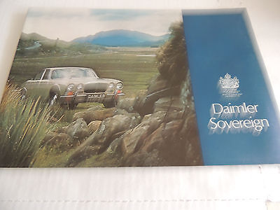 Daimler Sovereign Catalogue Brochure 1972 scarce picked up at Coventry RHD