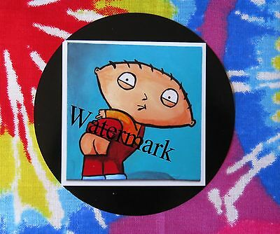 "Jumbo 3"" funny Stewie Family Guy pin back fridge magnet button"