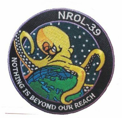 NROL-39 STICKER Nothing Beyond Our Reach OCTOPUS EMBLEM U.S. Recon Spy Satellite