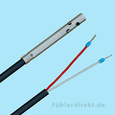 Air sensor PT1000 2m PVC Cable perforated Protective sleeve, Cable sensor, air