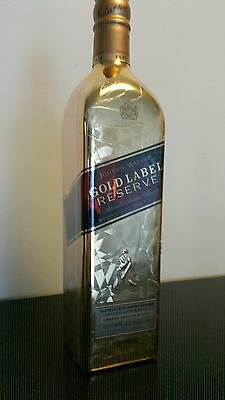 Johnnie Walker Scotch Whisky Gold Bullion Bottle! Window Pattern! 750ml! Sealed!