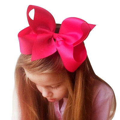 20pcs/lot Large Hair Bow 6 Inch Girl Boutique Grosgrain Ribbon Alligator Clip