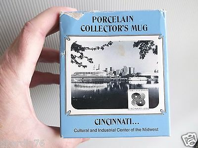 Vintage 1988 View of Cincinnati Ohio Museum Collection Mug in Box NEW OH