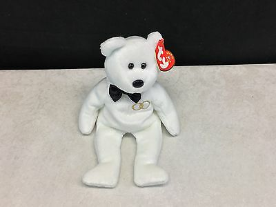 TY Mr. the Groom Bear Original BEANIE BABY 2001 Retired MWMTs