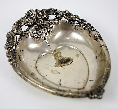 Antique 1900's Wallace Sterling 76.3g Silver .925 Grand Baroque Candy Nut Dish !