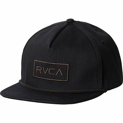 6ce0b0186b8 NWT Men s RVCA Witz Adjustable Snapback Hat Cap Black 5-Panel Skate MMA