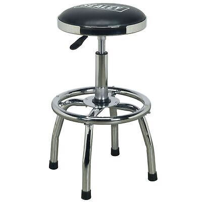 Sealey Workshop Stool Heavy-Duty Pneumatic With Adjustable Height Swivel Seat