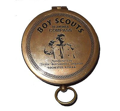 American Boy Scout Compass Antique look Vintage Brass Compass