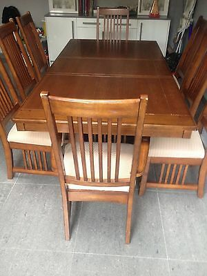 8 Seater Solid Wood Dining Table With Chairs