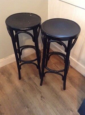 Pair Old Painted Vintage Wooden Stools Project