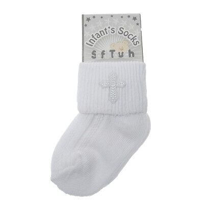 Baby White Christening Baptism infant's socks NB-12 Months by soft touch