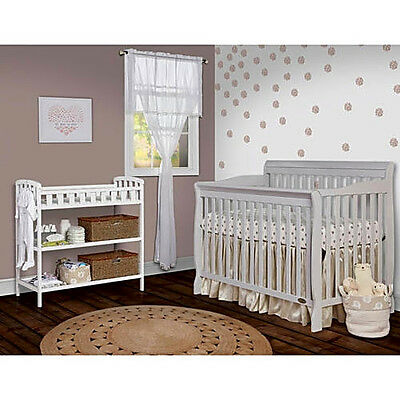 Dream On Me Ashton Convertible 5-in-1 Crib, Mystic Grey