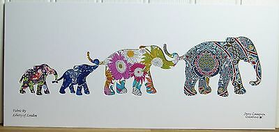 Liberty Of London Fabric Elephant Family Silhouette Picture 3404