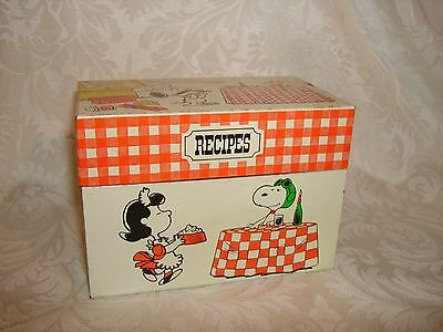 Vintage 1965 Peanuts Snoopy Charlie Brown Recipe Box