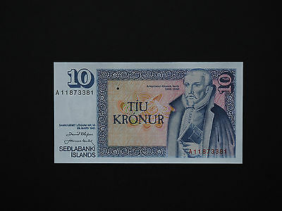 ICELAND BANKNOTES  10 KRONUR  EARLY  1961  QUALITY ISSUE   p48          MINT UNC