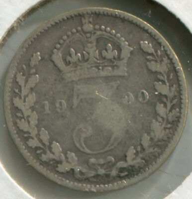Great Britain Silver Threepence [3-Pence] 1900
