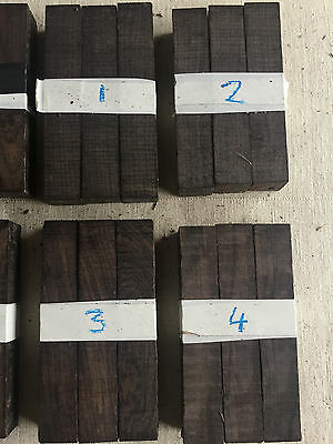 FSC 100% African blackwood pen blank / turning blank / sets of 3 / 19-20mm SQ
