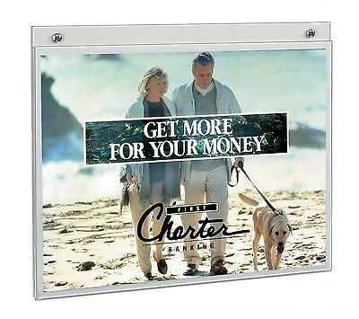 Displays2go Clear Acrylic 11 X 8.5 Wall Mount Sign Holders 10 Pack FL1185
