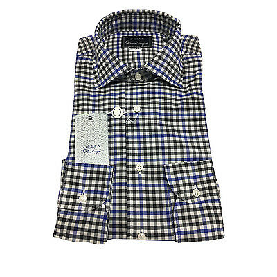 ORIAN VINTAGE men's shirts check slim fit 100% cotton