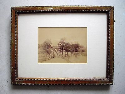 Old Framed Sepia Photo of Canal
