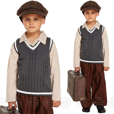 BOYS FANCY DRESS COSTUME 1940s BOY VE DAY SCHOOL CHILDS WARTIME OUTFIT BOOK DAY