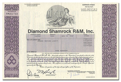 Diamond Shamrock R & M, Inc. Stock Certificate