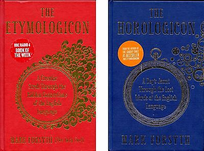 Mark Forsyth 2 Books - The Horologicon - The Etymologicon - English Language