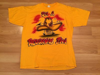 1980's WASHINGTON REDSKINS VINTAGE T SHIRT MENS XL GOLD AIRBRUSH RIP COWBOYS 80s