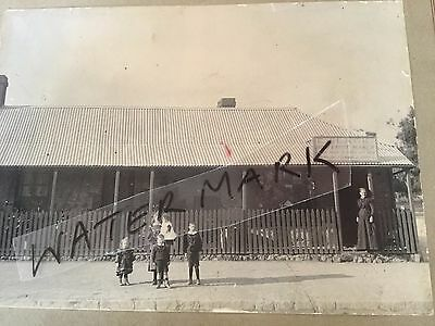old vintage photo antique photograph E Slack Boot Shoe Maker Australian House