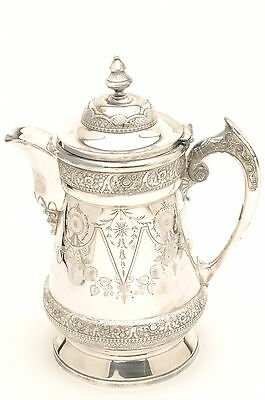 Beautiful Antique Silverplated Water Pitcher