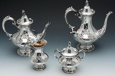 King Francis by Reed & Barton 4 piece silver plated Tea Set