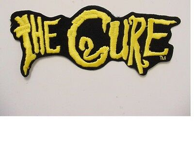 """set of 2 large THE CURE  PATCH EMBROIDERED 80'S -IRON ON PATCH-new 7.5""""long"""