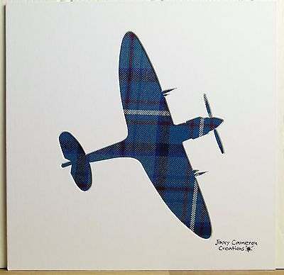 Raf Tartan Spitfire Silhouette Picture 3230