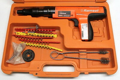 Ramset Cobra+ Powder Actuated Tool with Case, Cleaning Brushes and Shot-Strips