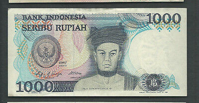 Indonesia 1987 1000 (1,000) Rupiah P 124 Circulated