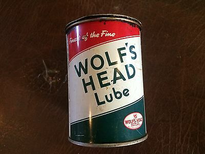 """Wolf""""s Head Lube-1 lbs. Can"""