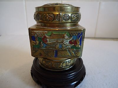 chinese enamel and brass box