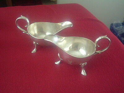 Pair of silver plated Sauce Boats by Mappin Brothers c1900  EP