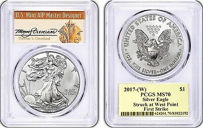 2017-(W) Silver Eagle MS70 PCGS First Strike THOMAS CLEVELAND *Population 150!*
