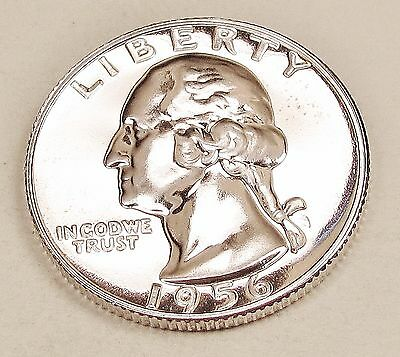 1956   Choice   Proof   Quarter  90%  SILVER   Exact  Coin  Pictured   #422   47