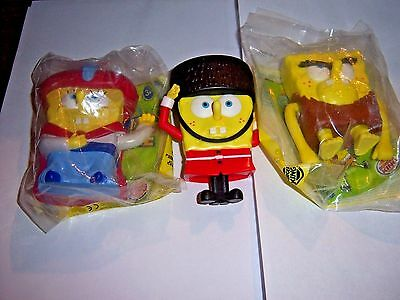 "2005 Spongbob ""Lost in Time"" Burger King Toys New"