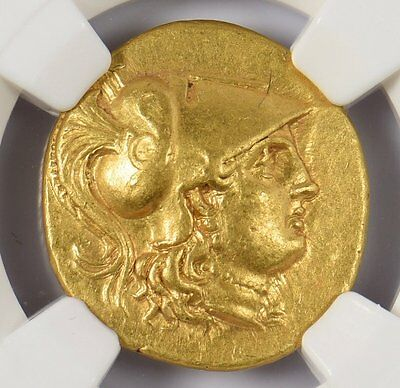 Alexander The Great Moesia Callitas Gold Stater 260-220Bc Ngc Xf Stk 4/5 Sur 4/5