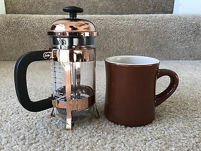 15th anniversary Starbucks French Press 3 Cup Copper With Mug!